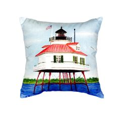 Drum Point Lighthouse No Cord Pillow 18X18