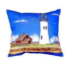 Scituate Ma Lighthouse No Cord Pillow 16X20