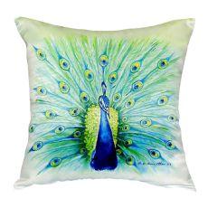 Peacock No Cord Pillow 18X18