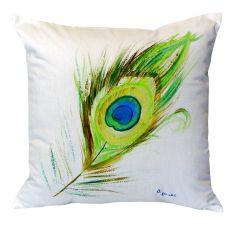 Peacock Feather No Cord Pillow 18X18