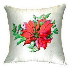 Poinsettia No Cord Pillow 18X18