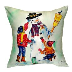 Snowman No Cord Pillow 18X18