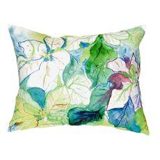 White Poinsettia No Cord Pillow 16X20