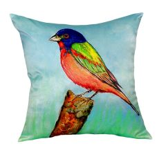 Painted Bunting No Cord Pillow 18X18