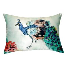 Betsy'S Peacock No Cord Pillow 16X20