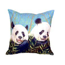 Pandas No Cord Pillow 18X18