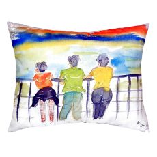 Ladies Looking No Cord Pillow 16X20