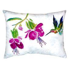 Purple Hummingbird No Cord Pillow 16X20