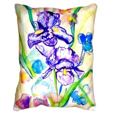 Two Irises No Cord Pillow 16X20