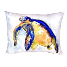 Blue Sea Turtle - Left No Cord Pillow 16X20