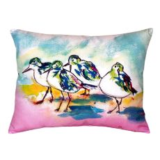 Pink Sanderlings No Cord Pillow 16X20