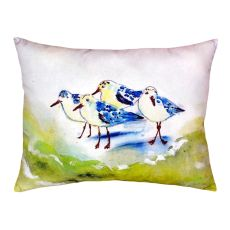 Green Sanderlings No Cord Pillow 16X20