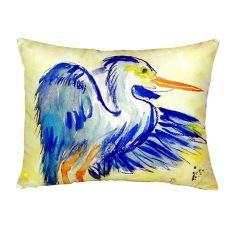 Teal Blue Heron No Cord Pillow 16X20
