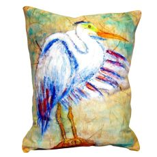 Egret On Rice No Cord Pillow 16X20