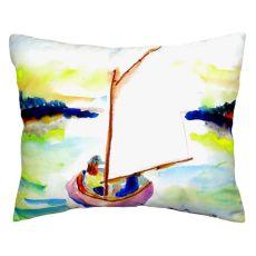 Pink Sailboat No Cord Pillow 16X20