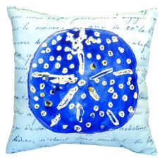 Blue Sand Dollar No Cord Pillow 18X18