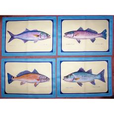 Assorted Fish Place Mat Set Of 4