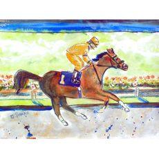 Racing Horse Gold  Place Mat Set Of 4