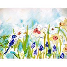 Bird & Daffodil Place Mat Set Of 4