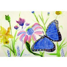 Betsy'S Blue Morpho Place Mat Set Of 4