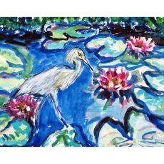 Heron & Waterlilies Place Mat Set Of 4