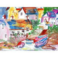 Boats At Steps Place Mat Set Of 4