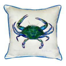 Blue Crab - Male Small Indoor/Outdoor Pillow 12X12