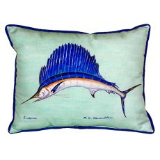 Sailfish - Teal Small Indoor/Outdoor Pillow 11X14