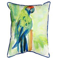 Green Parrot Small Indoor/Outdoor Pillow 11X14