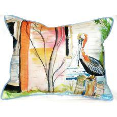 Betsy'S Pelican Small Indoor/Outdoor Pillow 11X14