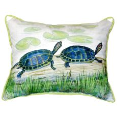 Two Turtles Small Indoor/Outdoor Pillow 11X14