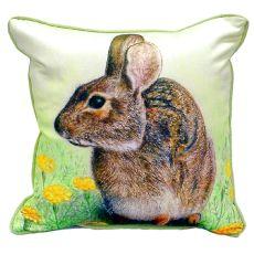 Rabbit Small Indoor/Outdoor Pillow 12X12