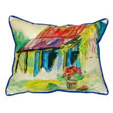 Barn & Geranium Small Indoor/Outdoor Pillow 11X14