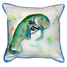Betsy'S Manatee Small Indoor/Outdoor Pillow 12X12