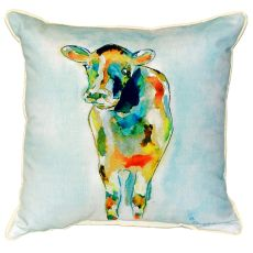 Betsy'S Cow Small Indoor/Outdoor Pillow 12X12
