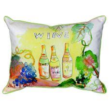 Wine Bottles Small Indoor/Outdoor Pillow 11X14