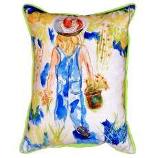 Garden Girl Small Indoor/Outdoor Pillow 11X14