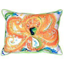 Orange Octopus Small Indoor/Outdoor Pillow 11X14