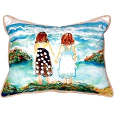 Twins On Rocks Small Indoor/Outdoor Pillow 11X14