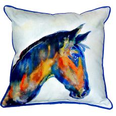 Blue Horse Small Indoor/Outdoor Pillow 12X12