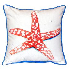 Coral Starfish Small Indoor/Outdoor Pillow 12X12