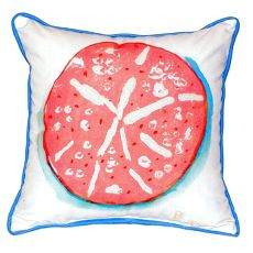 Coral Sand Dollar Small Indoor/Outdoor Pillow 12X12