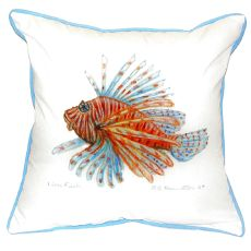 Lion Fish Guest Towel Small Indoor/Outdoor Pillow 12X12