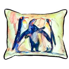 Penguins Small Indoor/Outdoor Pillow 11X14