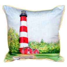 Chincoteague Lighthouse Va Small Indoor/Outdoor Pillow 12X12