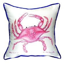 Pink Crab Small Indoor/Outdoor Pillow 12X12