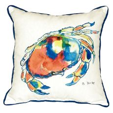 Dungeness Crab Small Indoor/Outdoor Pillow 12X12