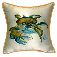 Fiddler Crab Small Indoor/Outdoor Pillow 12X12