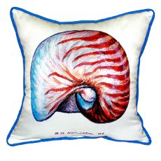 Nautilus Shell Small Indoor/Outdoor Pillow 12X12