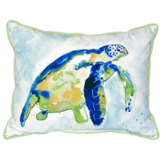 Blue Sea Turtle Small Indoor/Outdoor Pillow 11X14